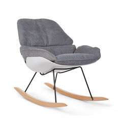 Rocking stoel lounge – Wit/grijs
