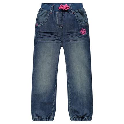 Jeans taille élastiquée