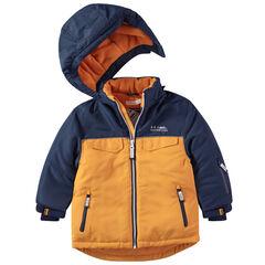 Ski-jas met microfleece voering en afneembare kap
