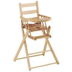Chaise haute extra pliante - Naturel