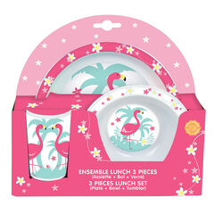 Lunchbox Flamant rose - 3 pièces