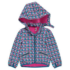 "Windstopper met afneembare kap, microfleece voering en print ""all-over"""