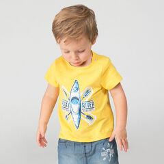 T-shirt met korte mouwen uit slub jerseystof met kajakprint