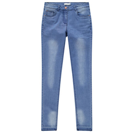 Junior - Jean effet used et crinkle