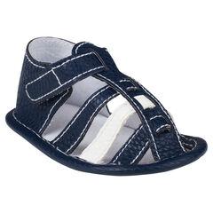 Open schoenen in imitatie leder bandjes