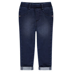 Jegging met used effect en fantasiestuds