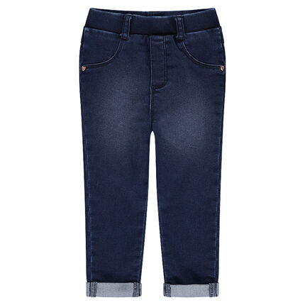 Jegging effet used avec rivets fantaisie