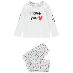 Pyjama met T-shirt met lange mouwen van jerseystof