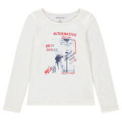 Junior - T-shirt met lange mouwen en print met boodschap