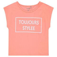 Junior - T-shirt met korte mouwen met rechte vorm en fantasieprint