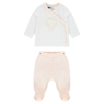 Pyjama en velours print ©Smiley Baby