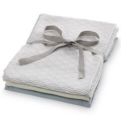 Pack de 3 langes en coton biologique - 70x70 cm