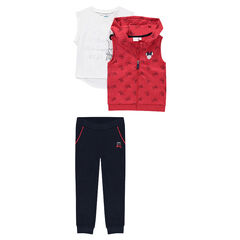 Jogging 3 pièces en molleton et jersey ©Disney print Minnie