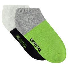 Set met 2 paar lage sokken in 2 kleuren