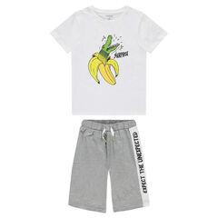 Junior - Korte pyjama van jerseystof met fantasieprint