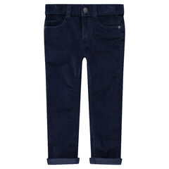 Pantalon en velours 1000 raies uni