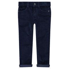 Pantalon en velours 1000 raies uni