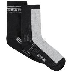 Junior - Lot de 2 paires de chaussettes assorties hautes