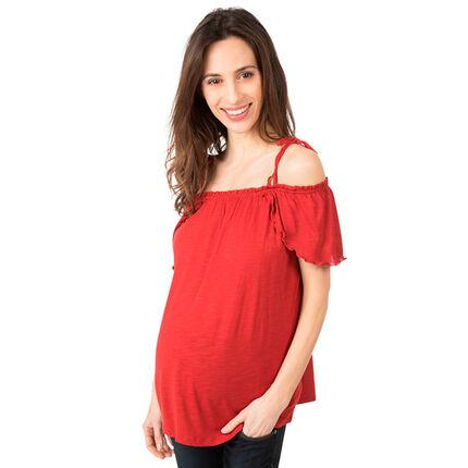 Zwangerschapstopje met ontblote schouders