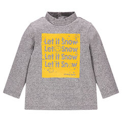 "Sous-pull en jersey fantaisie avec print Smiley ""Let it Snow"""