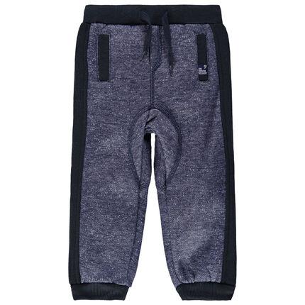Pantalon de jogging en molleton finitions contrastées