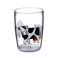 Verre imprimé vache