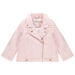 Perfecto effet cuir rose doublé sherpa , Orchestra