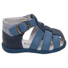 Lederen sandalen met verstelbare riem