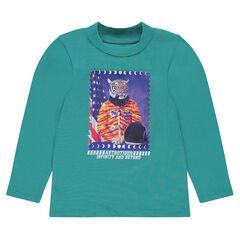 Onderhemd van jerseystof met fantasieprint