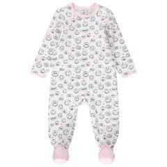 """Pyjama van jerseystof met Smiley-print """"all-over"""""""