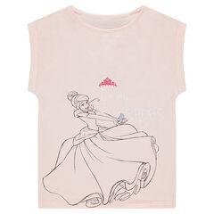 Tee-shirt manches courtes Disney print Cendrillon
