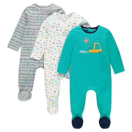 Set met 2 pyjama's met interlockprint