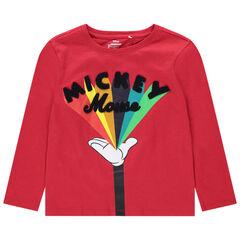 T-shirt manches longues en coton bio print Mickey