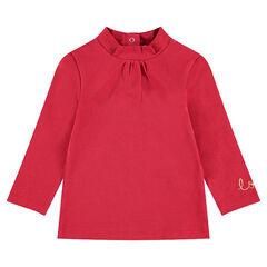 Sous-pull van jerseystof met geborduurd opschrift