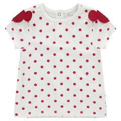 T-shirt met korte mouwen en stippen van Disney's Minnie