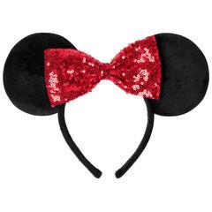 Serre-tête Minnie Disney avec noeud en sequins