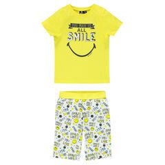 Korte pyjama met ©Smiley print