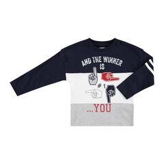 Tee-shirt manches longues en jersey avec symboles printés