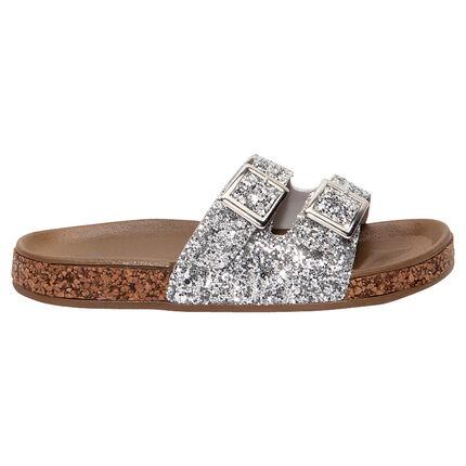 Zilveren sandalen met pailletjes van maat 24 tot 27