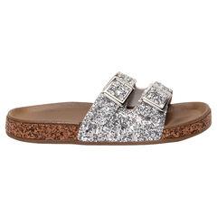 Zilveren sandalen met pailletjes van maat 28 tot 38