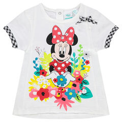 Disney T-shirt met korte mouwen met Minnie- en bloemenprint