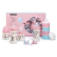 Welcome Baby zuigflessen set - Roze