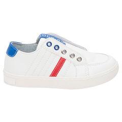 Lage sneakers met klittenbandsluiting en contrasterende inzetstukken van maat 28 tot 35
