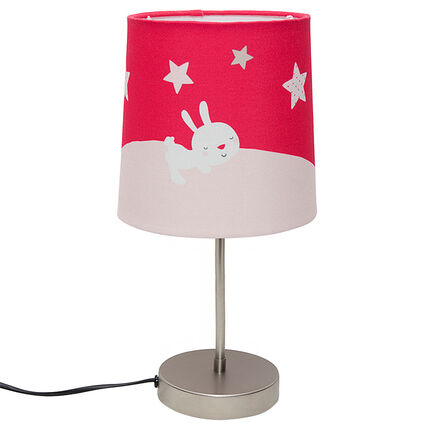 Lampe de chevet avec motif lapin