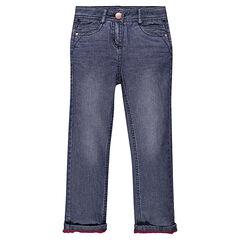 Jeans droit doublé micropolaire