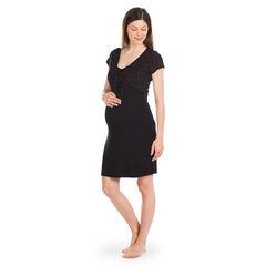 Robe homewear de grossesse et d'allaitement avec boléro imprimé intégré