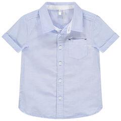 Chemise manches courtes à poche plaquée