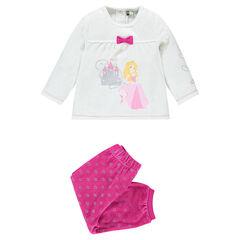 Pyjama en velours Disney la Belle au bois dormant, avec coupe adaptée à l'âge