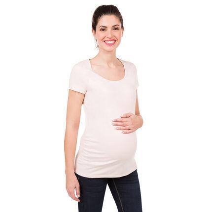 Zwangerschapsshirt met korte mouwen uit biokatoen