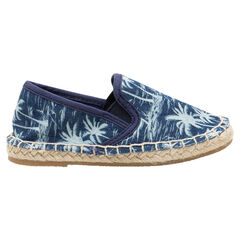 "Espadrilles van linnen met palmboomprint ""all-over"""